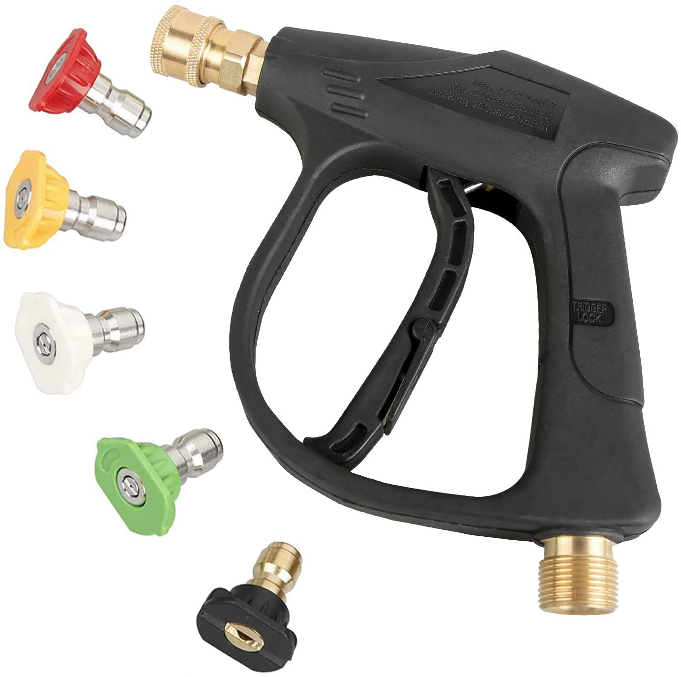 Sooprinse Quick Connect High Pressure Power Washer Attachment For Garden Hose