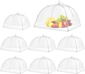 Spanla Pop-Up Mesh Screen Food Cover Tent, 8-Pack