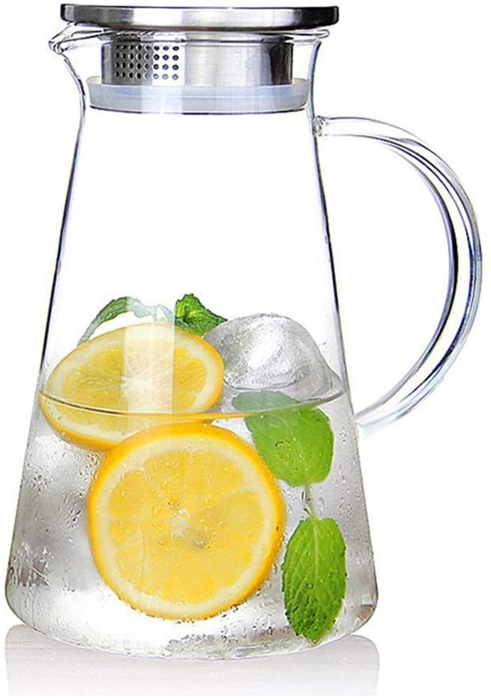 SUSTEAS Dishwasher Safe Glass Pitcher, 68-Ounce