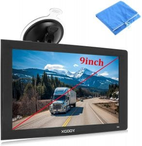Xgody Touchscreen Car GPS Navigation System, 9-Inch