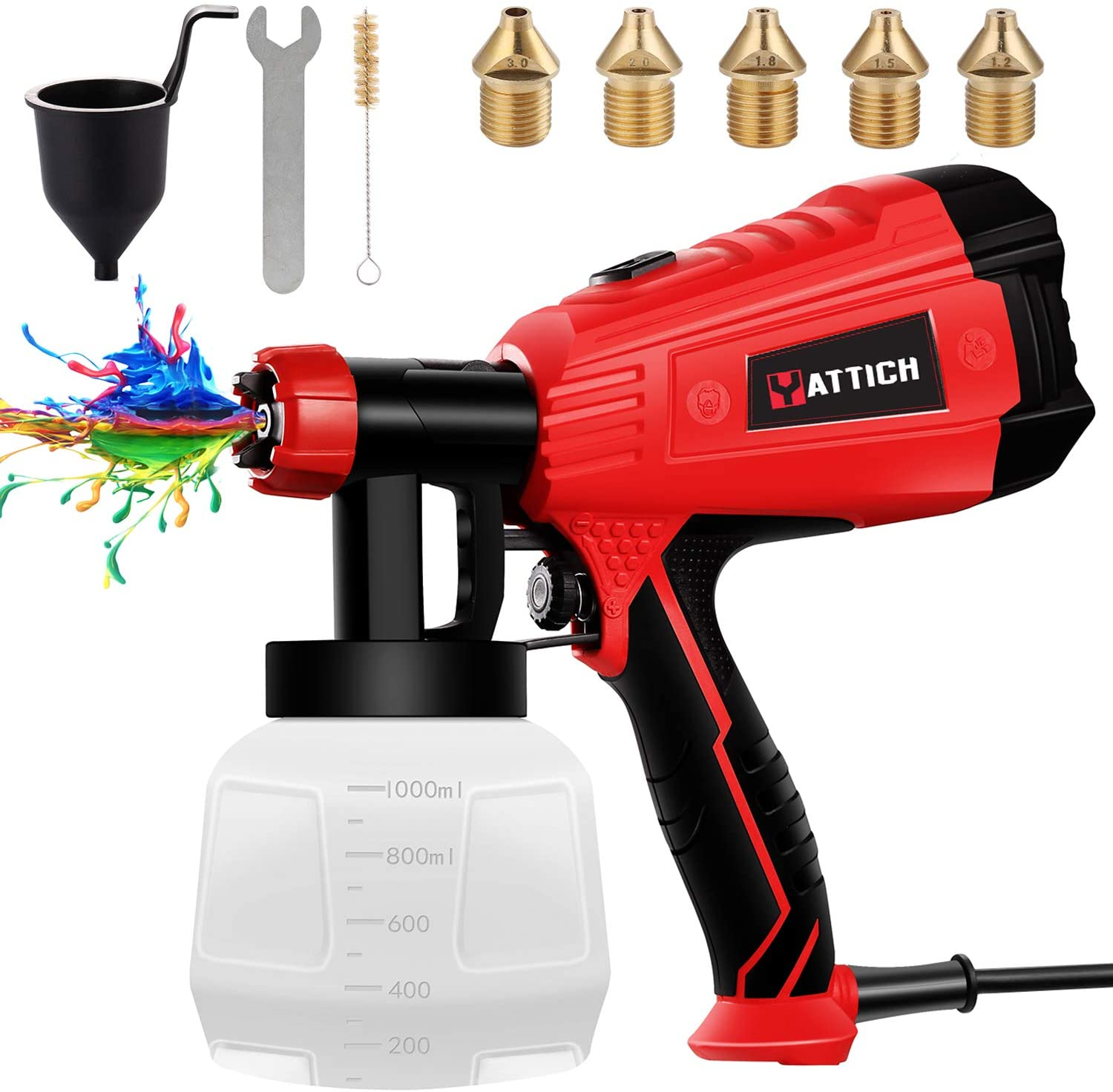 YATTICH 5 Copper Nozzle Paint Sprayer