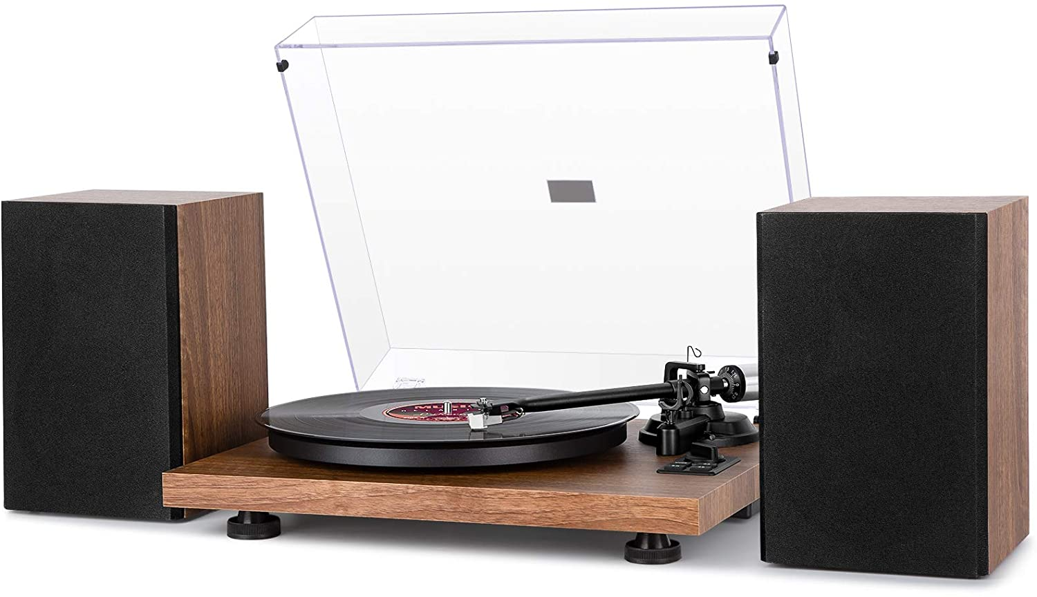 1byone Wireless Turntable HiFi System With Speakers