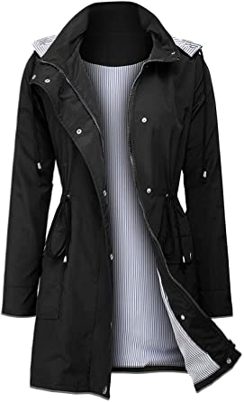 Arthas Women's Lightweight Hooded Rain Jacket