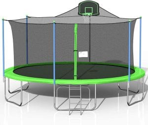 Awlstar Basketball Hoop Enclosed Trampline