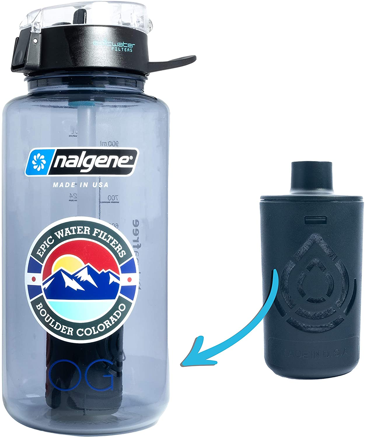 Epic Nalgene 32-Ounce Water Bottle With Filter