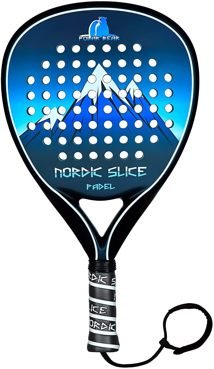 NORDIC SLICE Polar Bear Carbon Fiber Paddle Tennis Racket