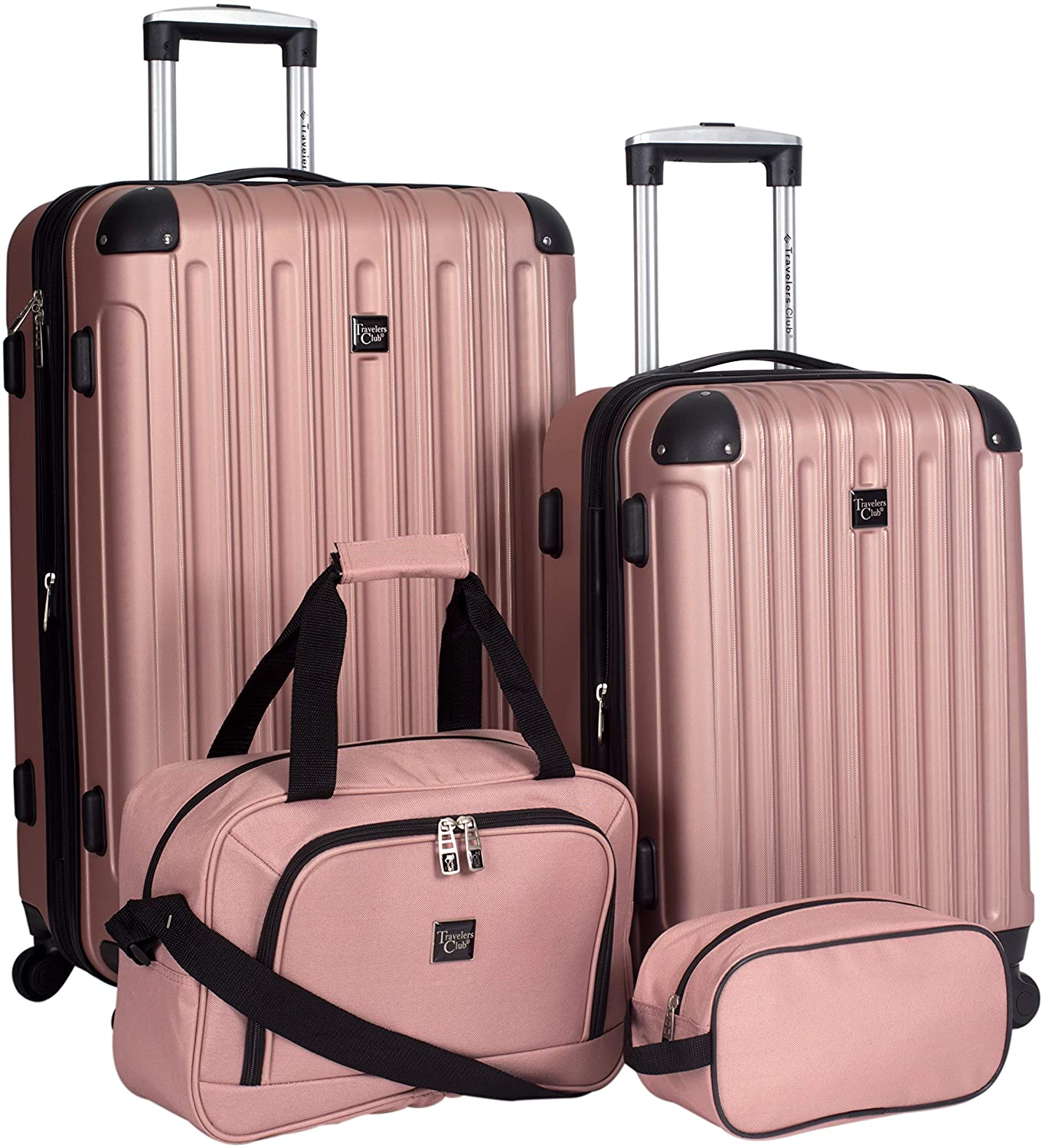 Travelers Club Midtown Hard Shell Suitcase, 4-Piece
