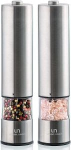 urban noon Battery Operated Salt And Pepper Grinder Set