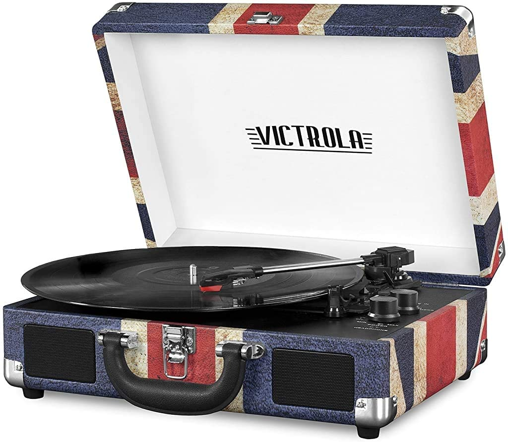 Victrola Vintage Bluetooth Portable Suitcase Record Player Turntable