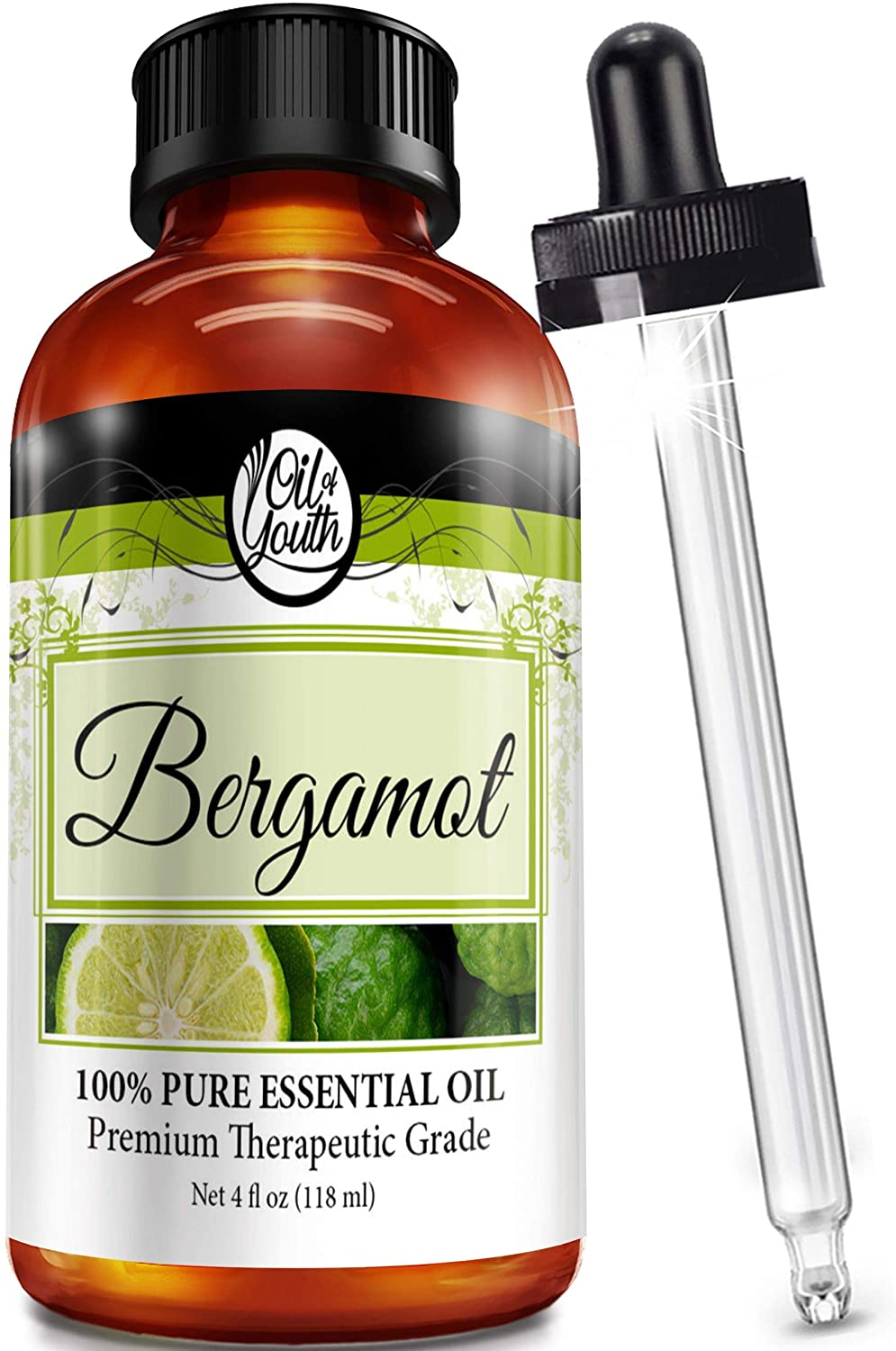 Oil Of Youth Bergamot Essential Oil, 4-Ounce