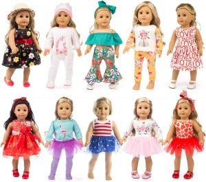 ZQDOLL 18-Inch American Girl Doll Clothes, 19-Piece