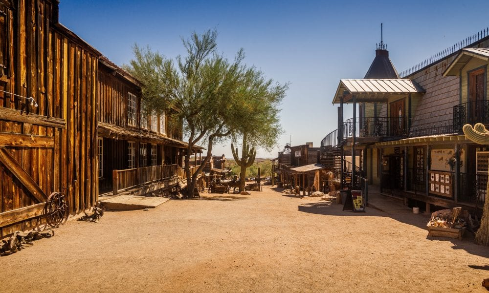 Old Western Goldfield Ghost Town