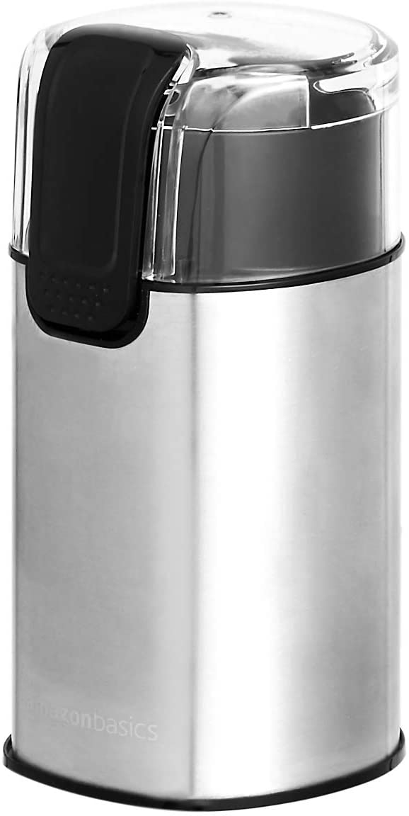 Amazon Basics Stainless Steel Electric Coffee Bean Grinder