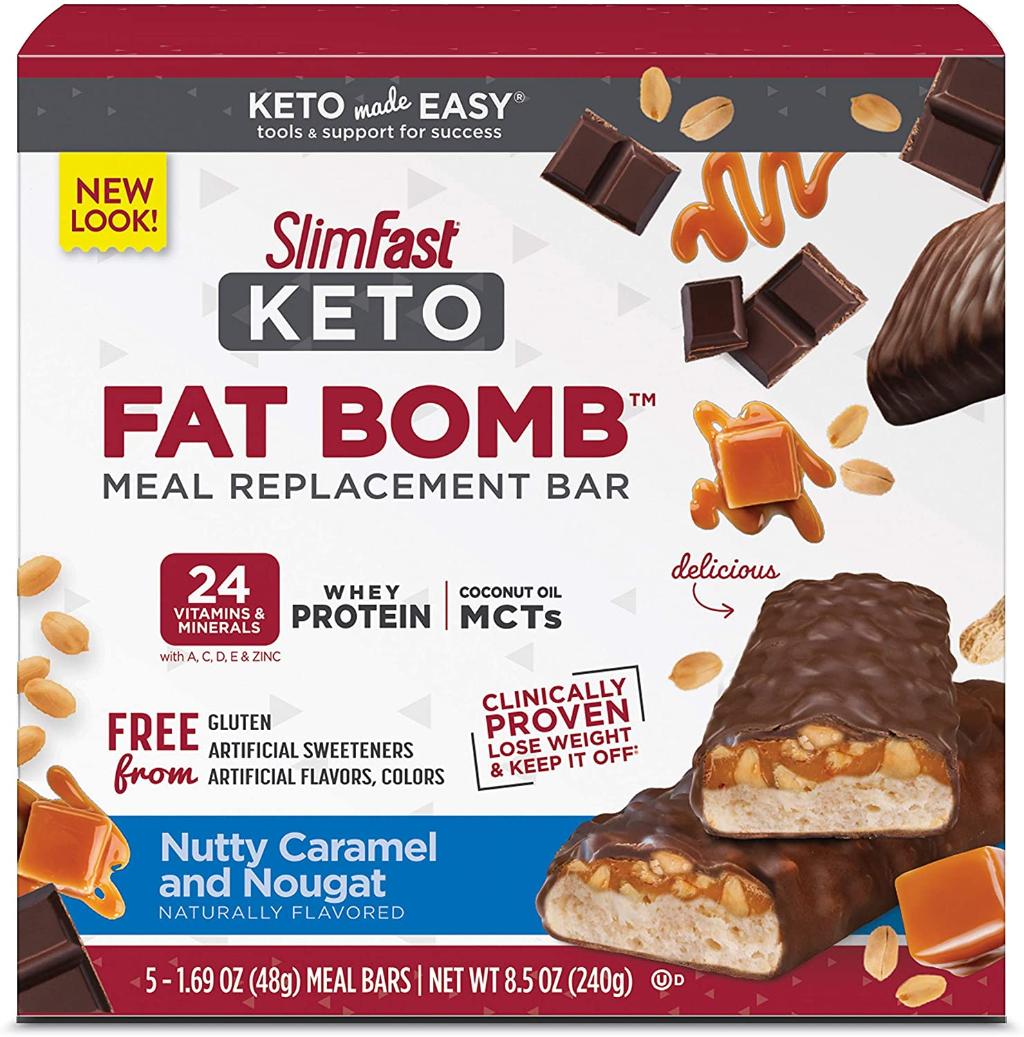 SlimFast Keto-Friendly Meal Replacement Bar
