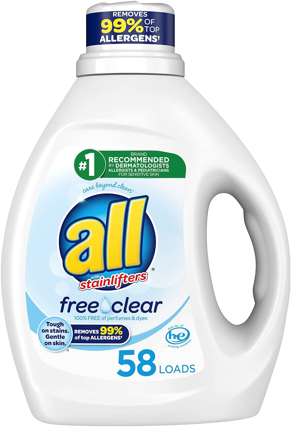 all Free & Clear Sensitive Skin Laundry Detergent