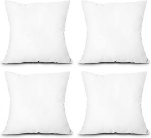 EDOW Square Throw Pillow Inserts, 4-Pack