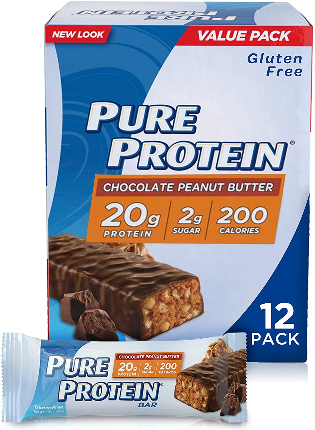 Pure Protein Low Sugar Protein Bar, 12-Pack