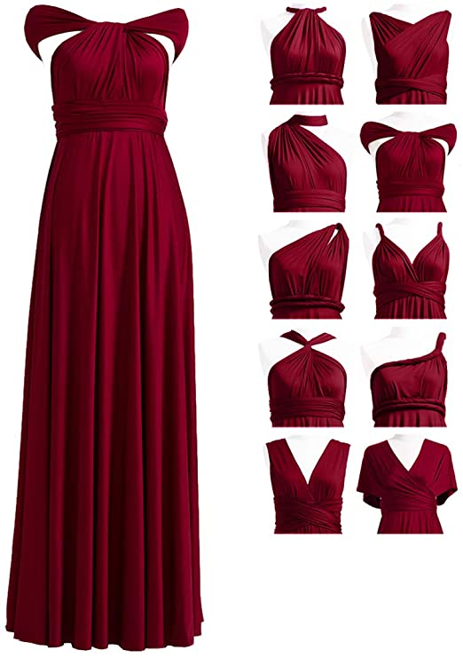 72STYLES Convertible Bridesmaid Infinity Dress For Women