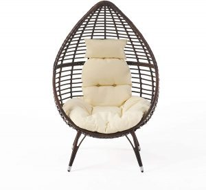 Christopher Knight Home Wicker All-Weather Patio Egg Chair