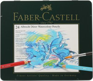 Faber-Castell Assorted Color Watercolor Pencils, 24-Count