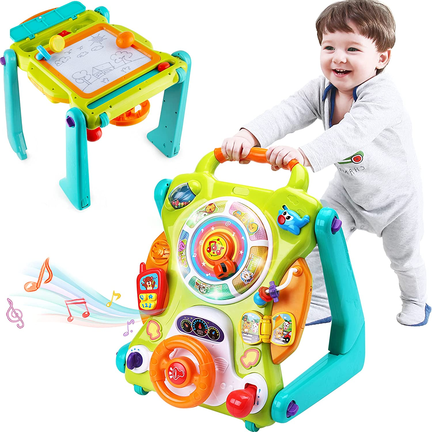 iPlay, iLearn Musical 3-In-1 Sit To Stand Toy