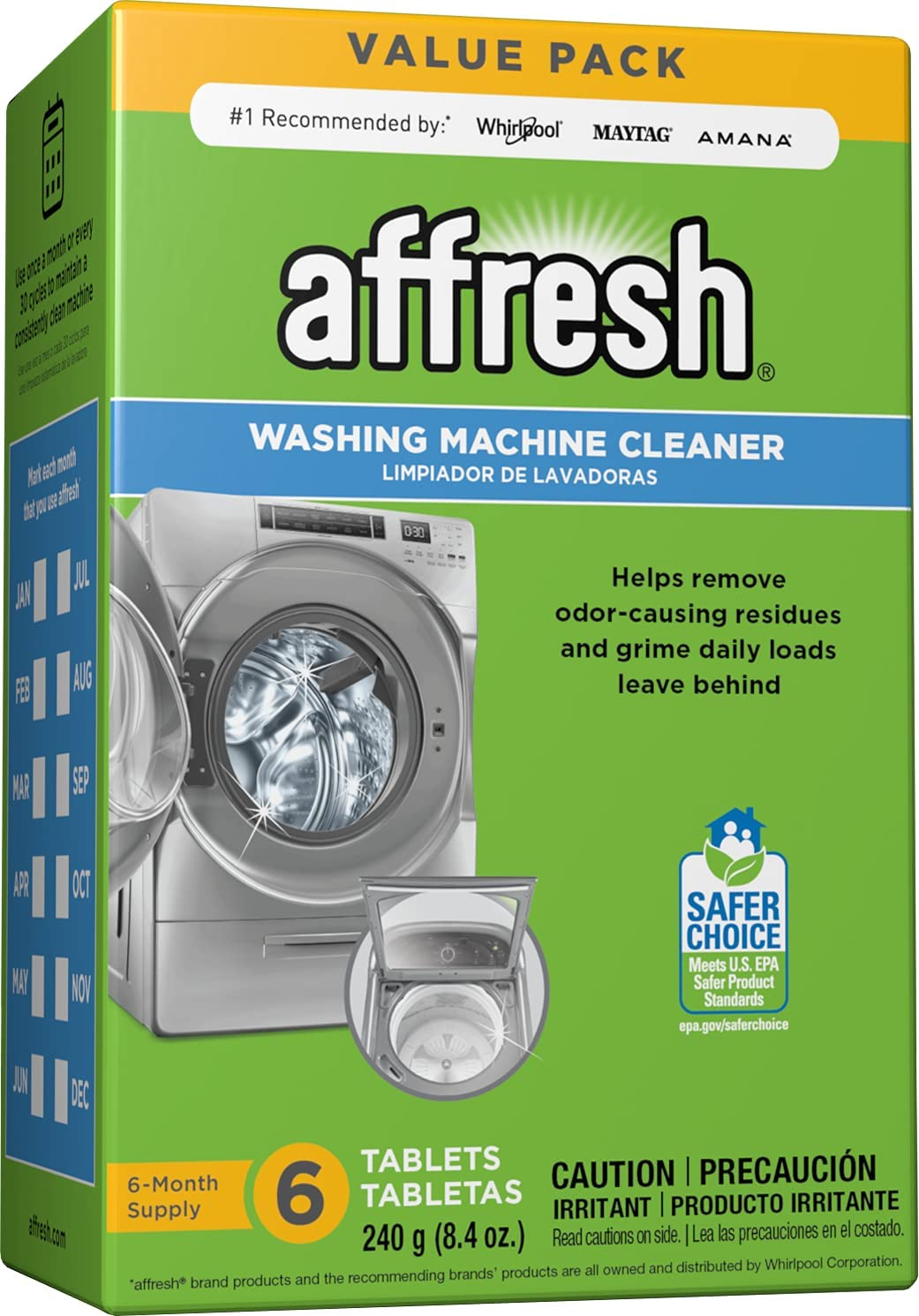 Affresh Deep-Clean Time-Release Washing Machine Cleaner, 6-Count