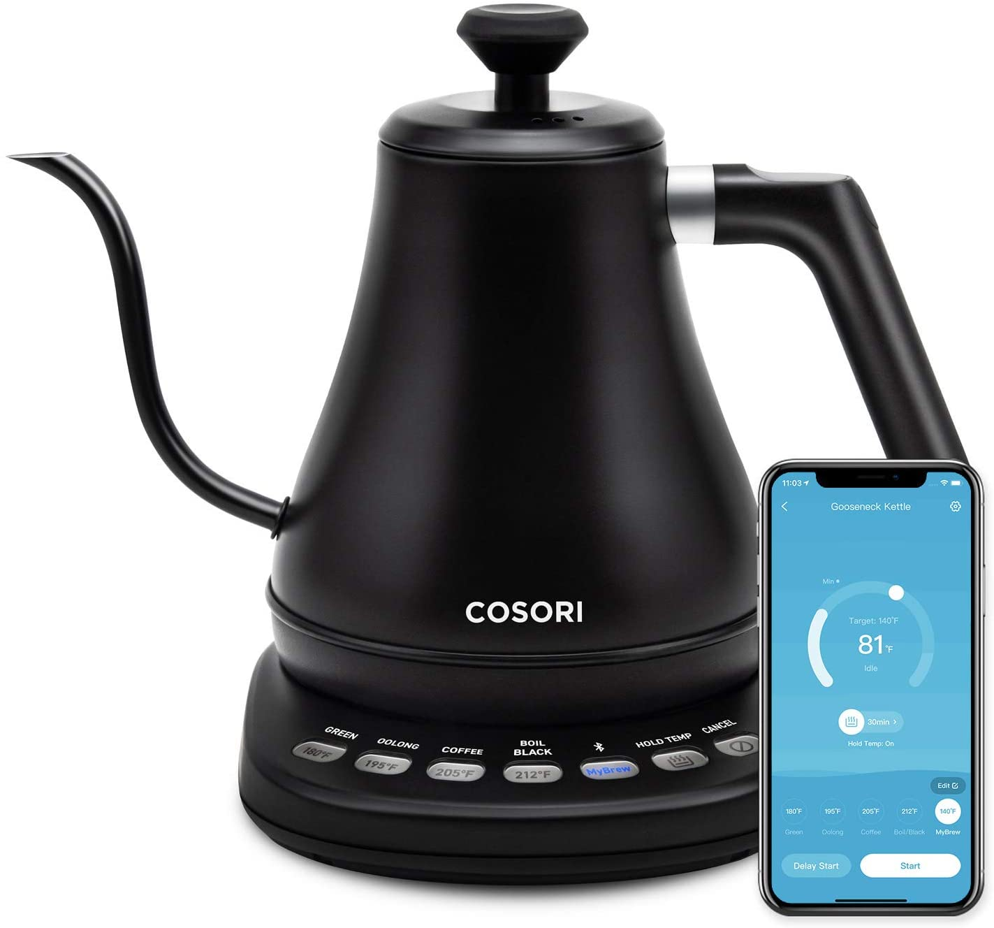 COSORI Rapid Boil Smart Electric Kettle For Coffee