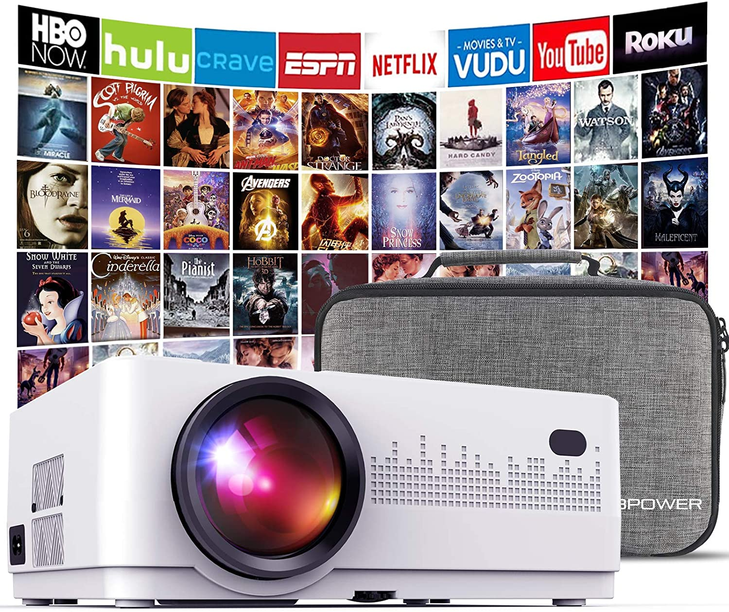 DBPOWER Multi-System Compatible Home Theater Projector