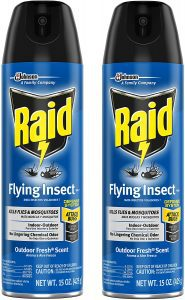Raid Flying Insect Outdoor Fresh Scent Indoor Insect Spray, 2-Pack