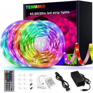 Tenmiro LED Color Changing Strip Lights, 65.6-Foot